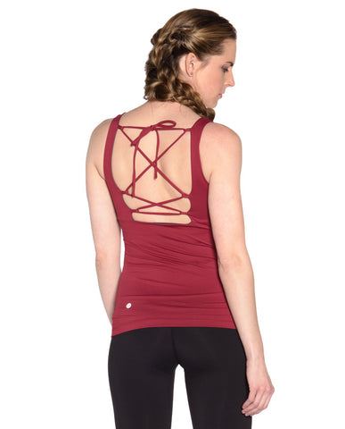 Embrace Tank - Dark Red