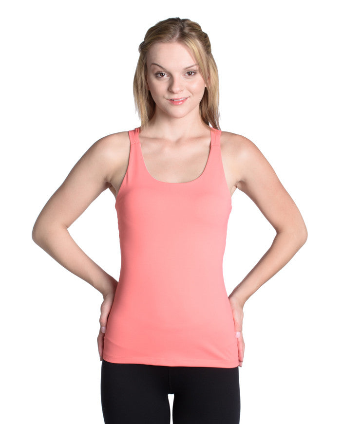Rise Above Tank - Coral Pink