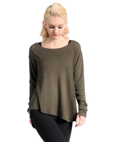 Mesh Back Long Sleeves - Black