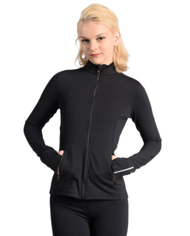 Versatile Zip Up Jacket - Black