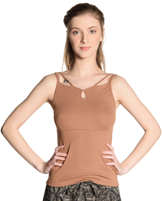 Confident Tank - Light Brown