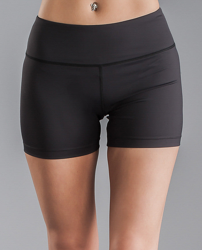 Almondon - 'Essence' Sport Shorts in Black - Premium Women's Activewear & Yoga Apparel