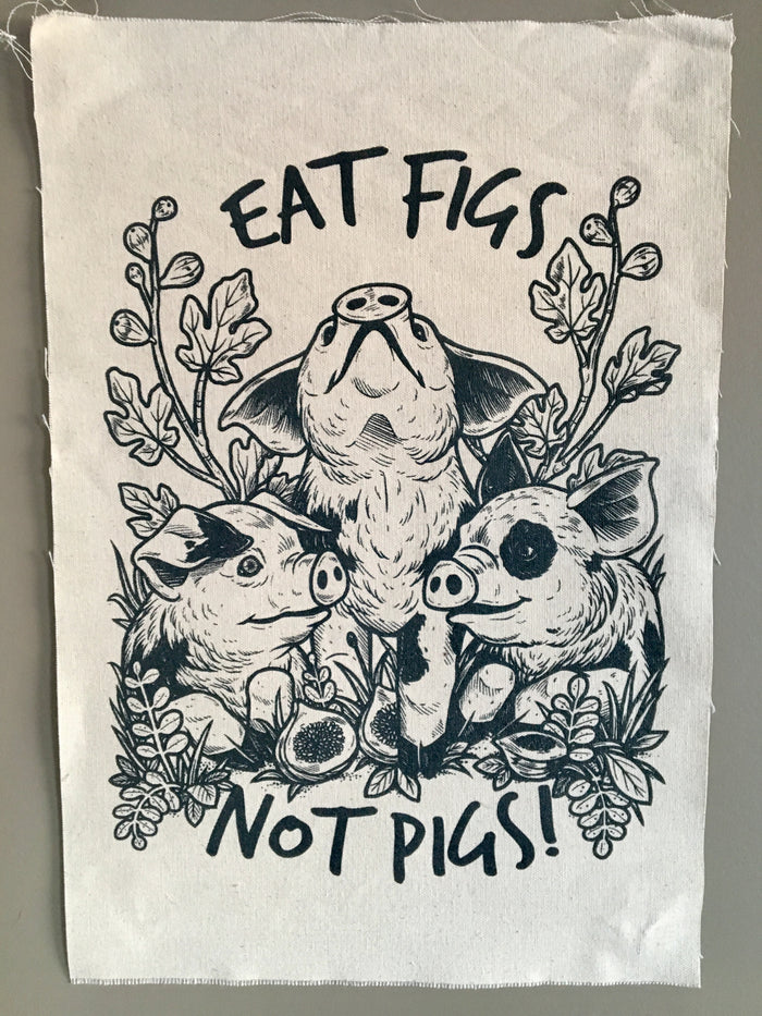 Eat Figs Not Pigs Canvas Art Print