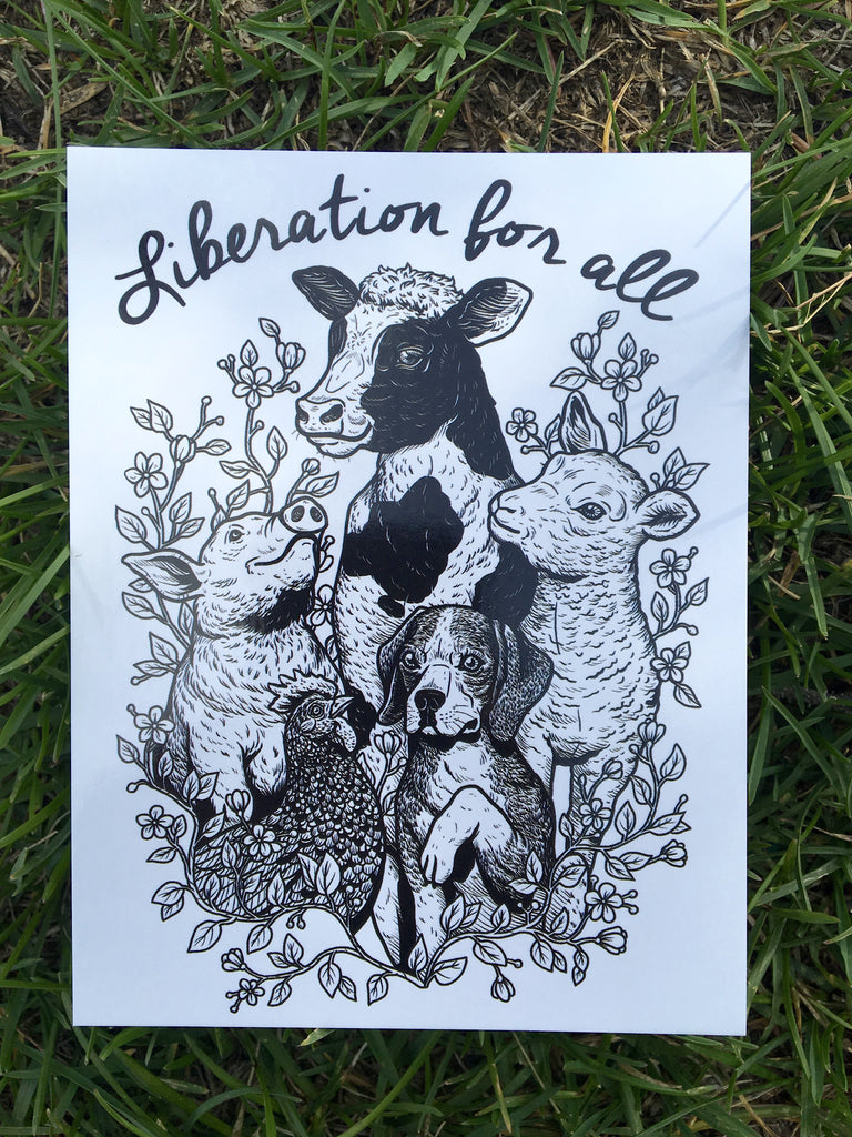 100% Recycled Liberation For All Postcard