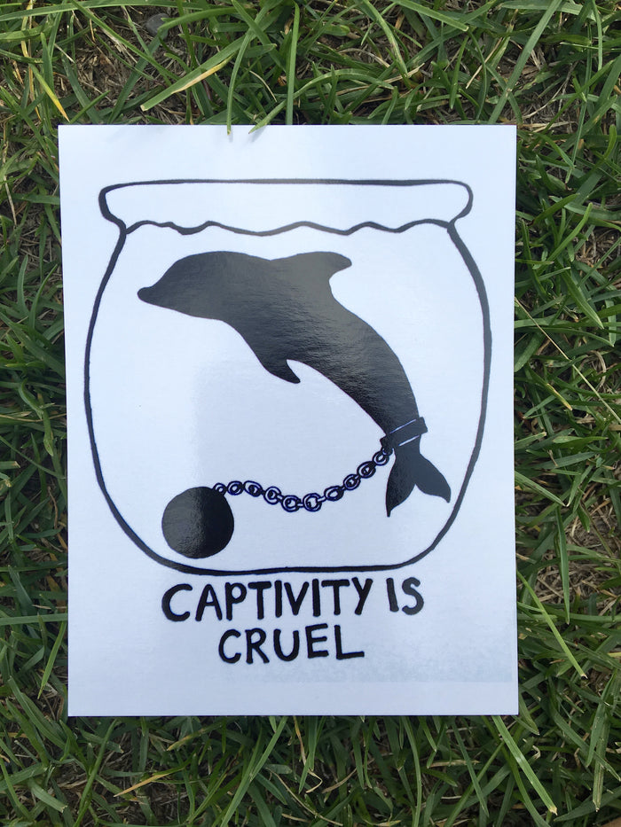 100% Recycled Captivity Is Cruel Postcard