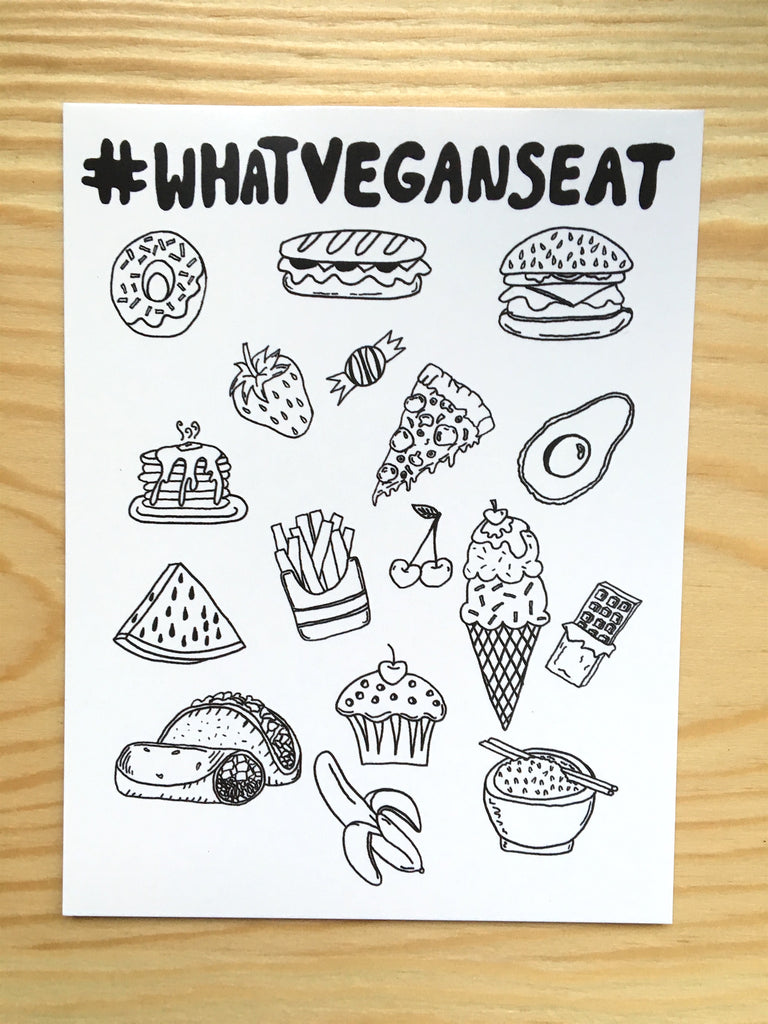 100% Recycled #WHATVEGANSEAT Postcard