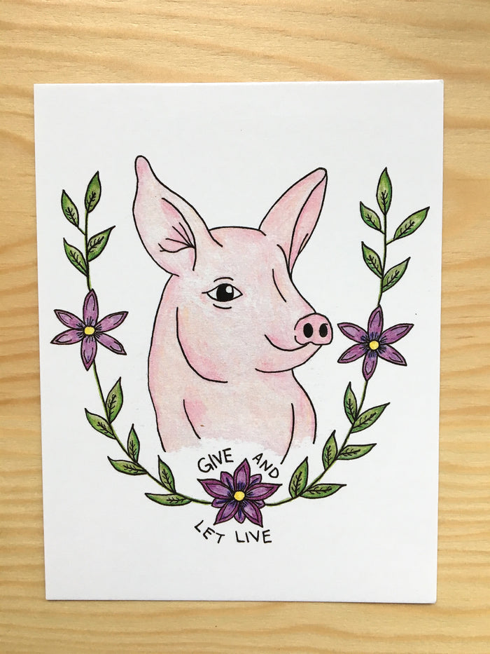 100% Recycled Give And Let Live Postcard