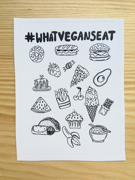 #WHATVEGANSEAT Sticker