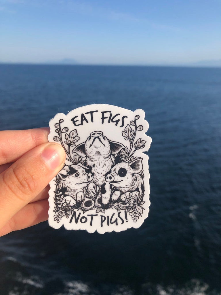 Eat Figs Not Pigs Sticker