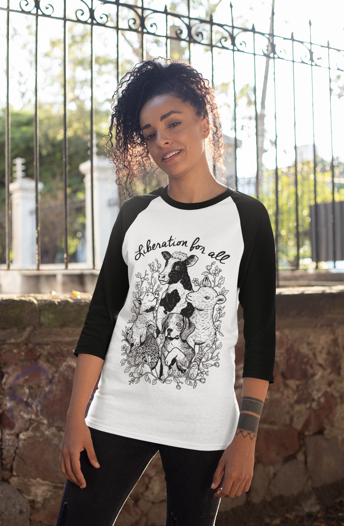 Liberation For All Baseball Tee Unisex | Ethically Made & Eco-friendly