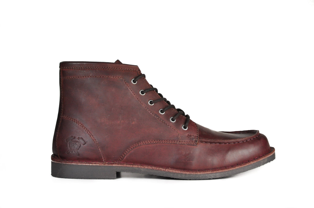 The Cooper | Oxblood Leather, Shop Hound & Hammer Men's Handcrafted Boots
