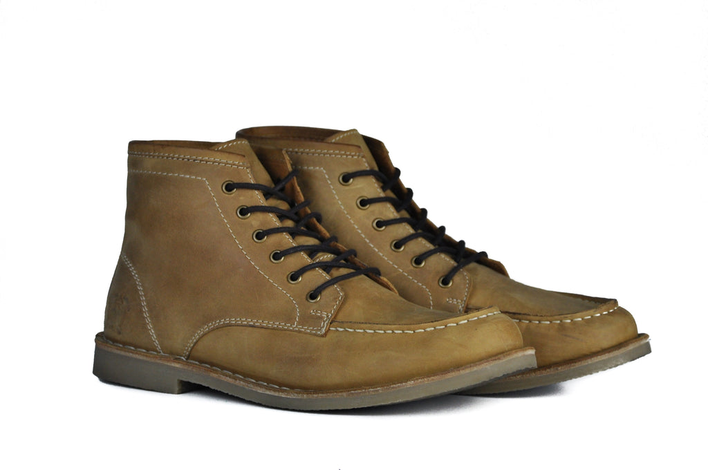 The Cooper | Crazy Horse Tan Leather, Shop Hound & Hammer Men's Handcrafted Boots