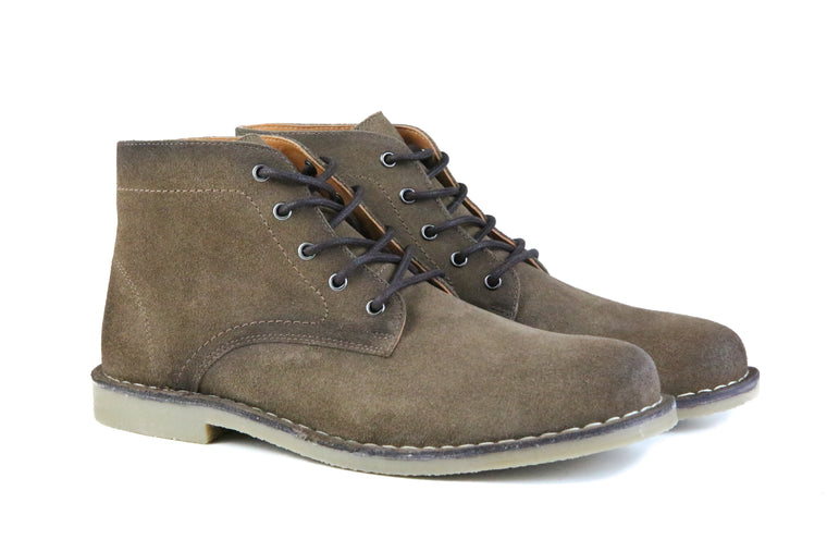 The Grover | Burnished Tobacco Suede, Shop Hound & Hammer Men's Handcrafted Boots