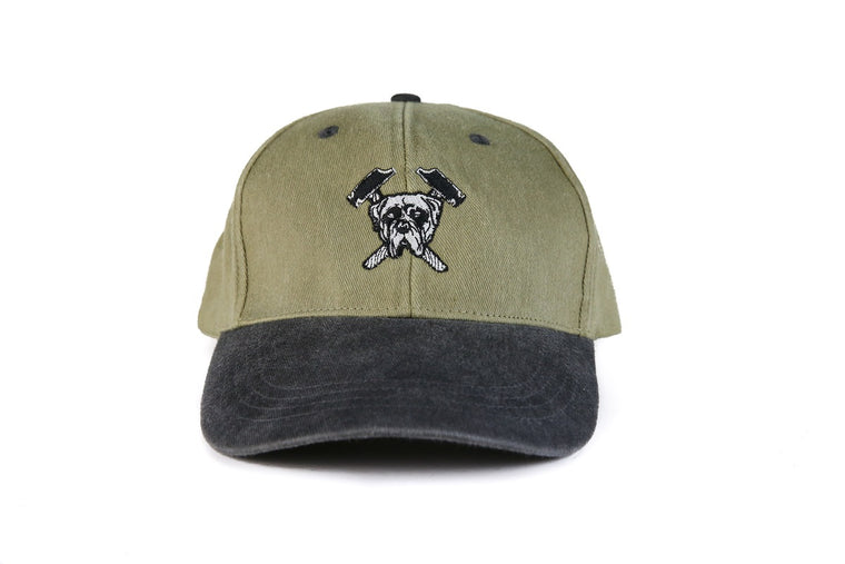 Hound & Hammer Logo Caps - Khaki/Charcoal, Shop Hound & Hammer Men's Handcrafted Boots