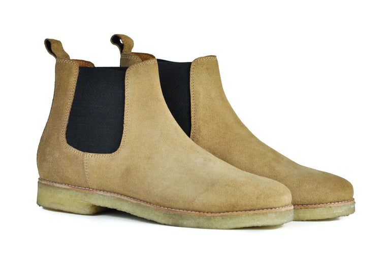The Maddox 2 | Tan Suede, Shop Hound & Hammer Men's Handcrafted Boots