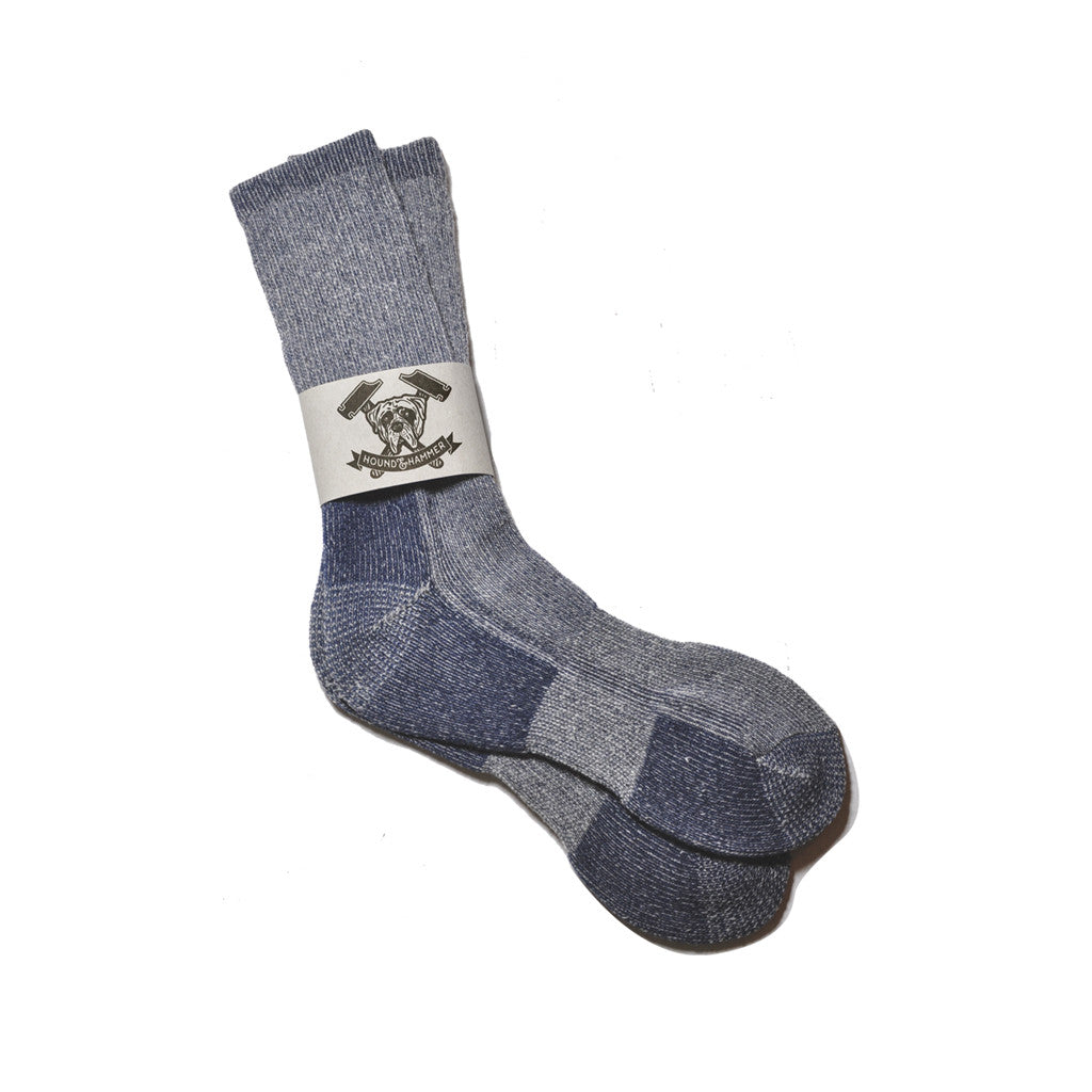 Heathered Blue Boot Sock, Shop Hound & Hammer Men's Handcrafted Boots