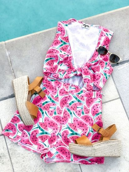 Mumu Watermelon Romper