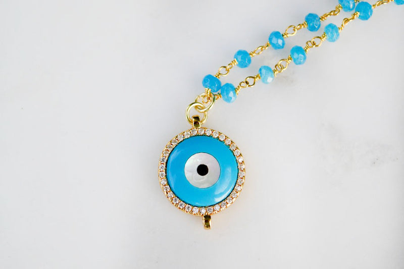 Blue Quartz Evil Eye 3