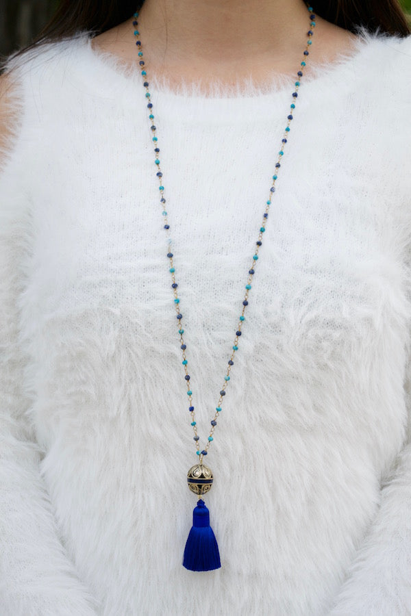 Blue Tassel Drop