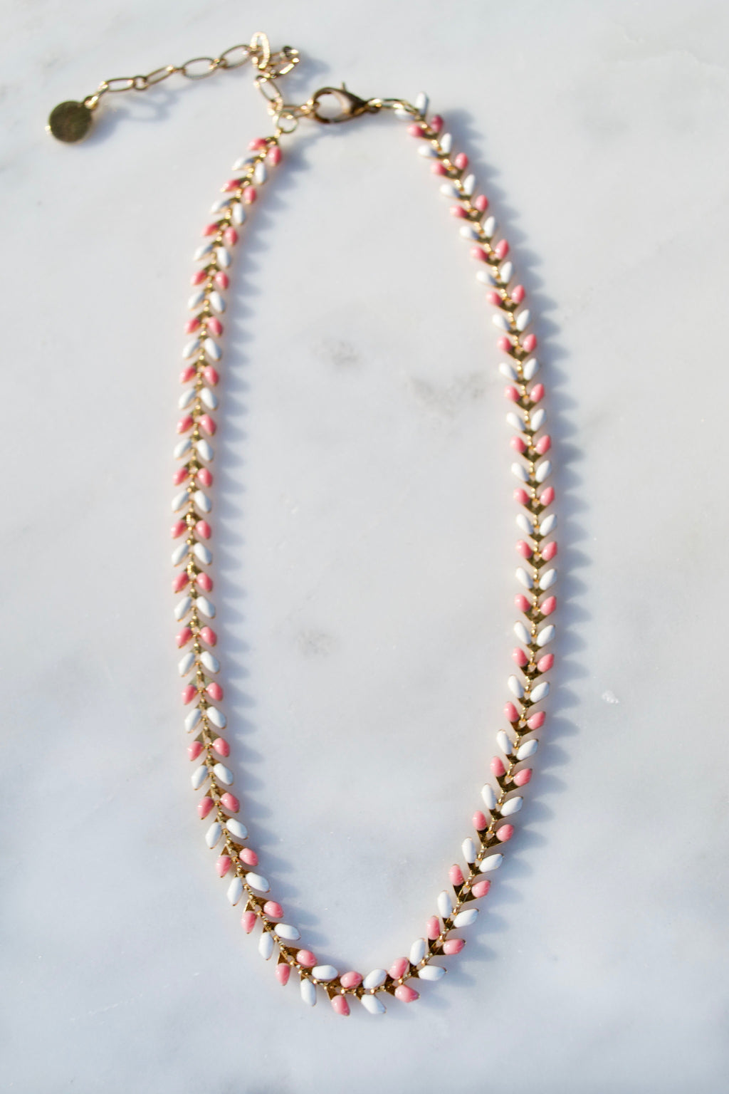 Pink and White Fish Chain