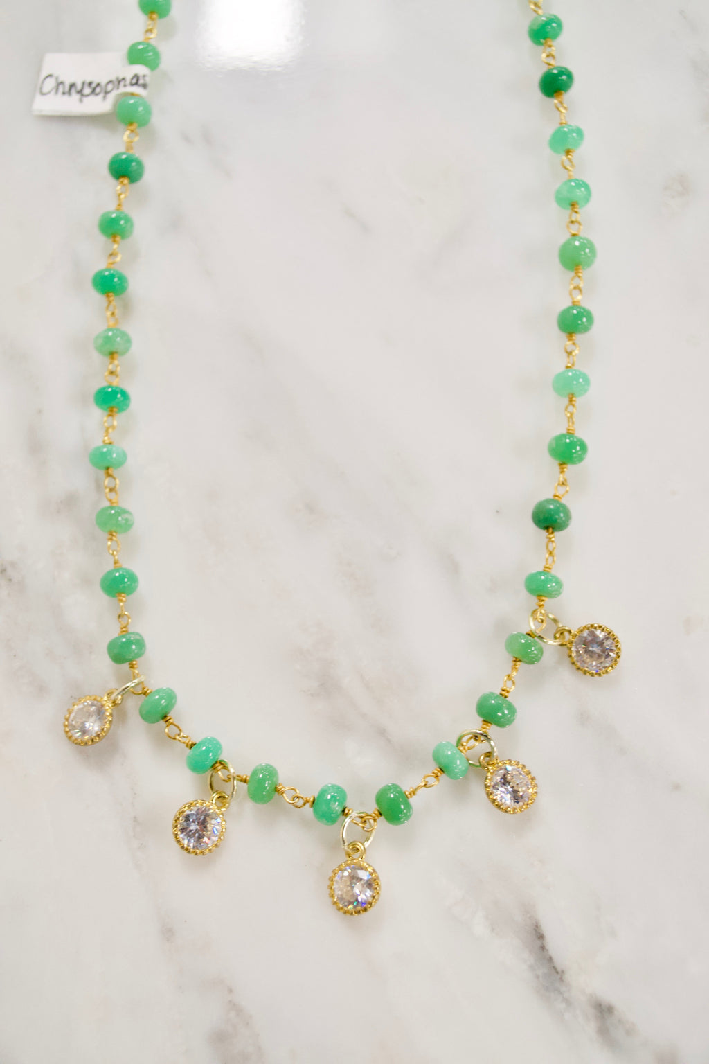 Chrysophase Choker