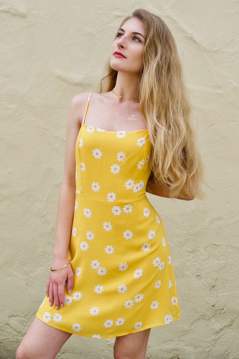 WH Yellow Daisy Dress
