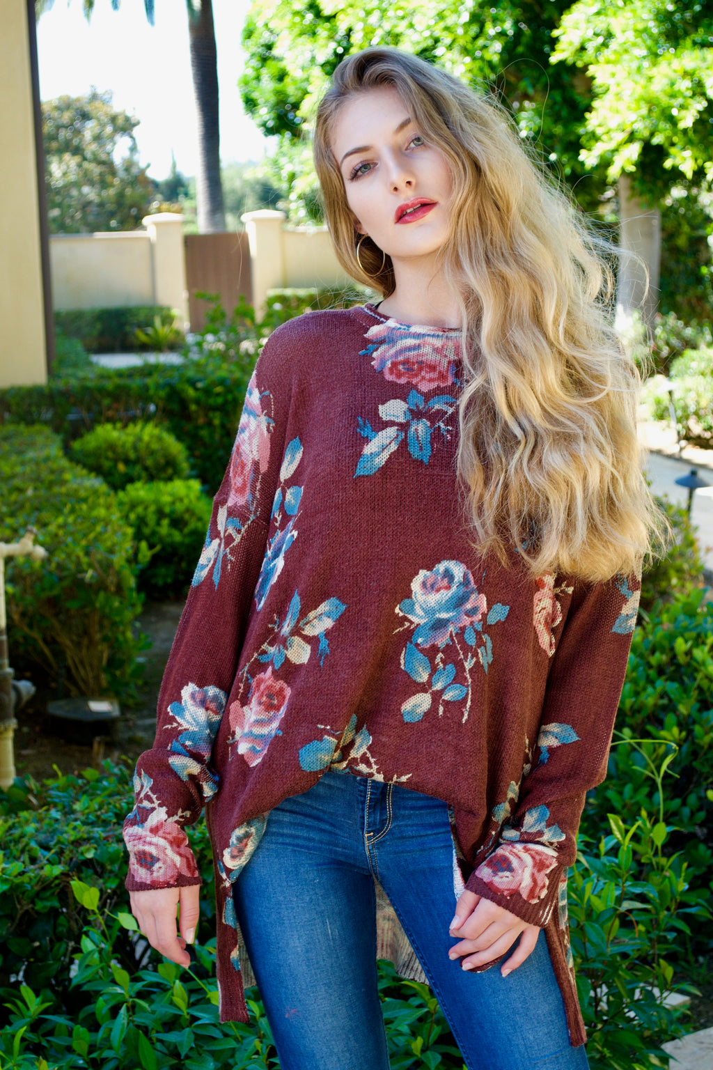 Mumu Chocolate Flower Sweater