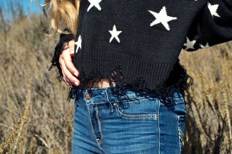 WH Black Star Sweater