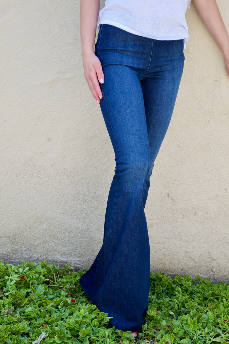 FP Denim Blue Bell Bottom Jeans