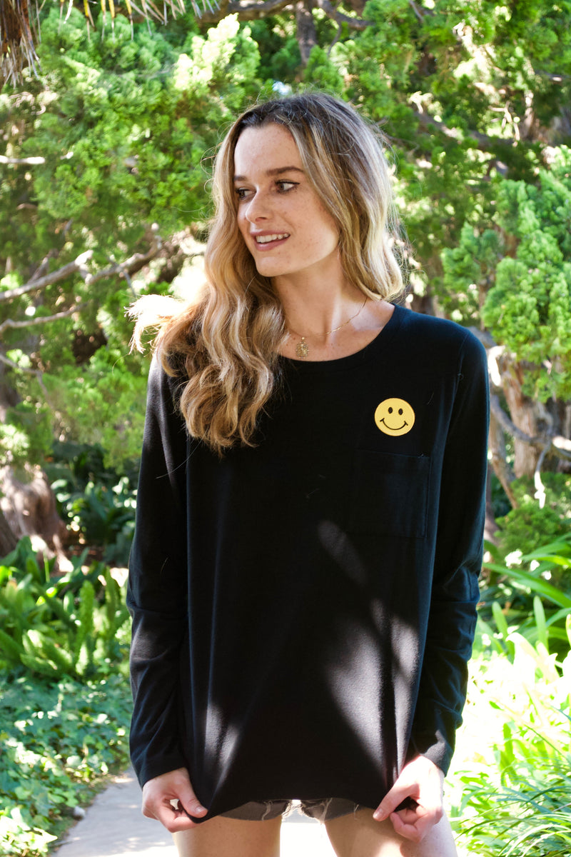 LBD Black Smily Face Shirt