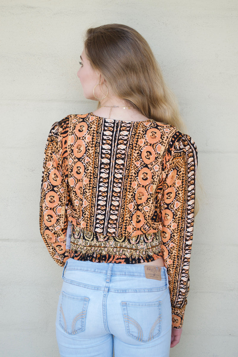 FP Black and Mustard Blouse