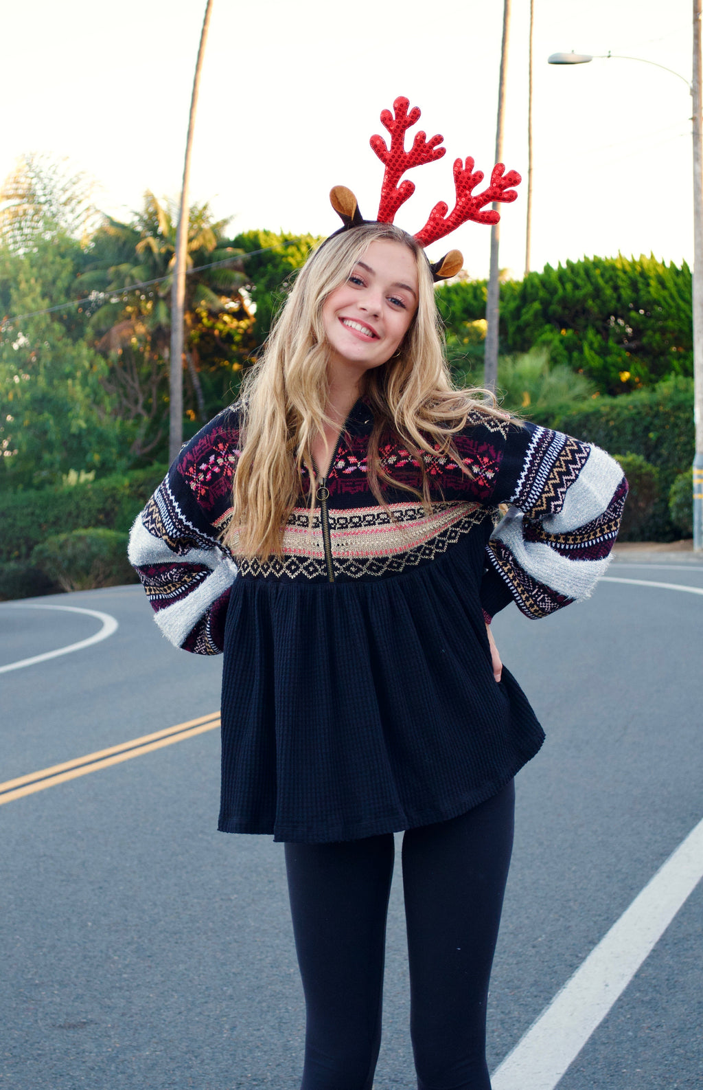 FP Black Holiday Sweater