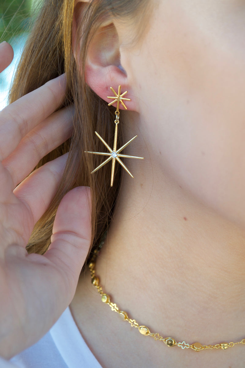 Daisy Star Earrings