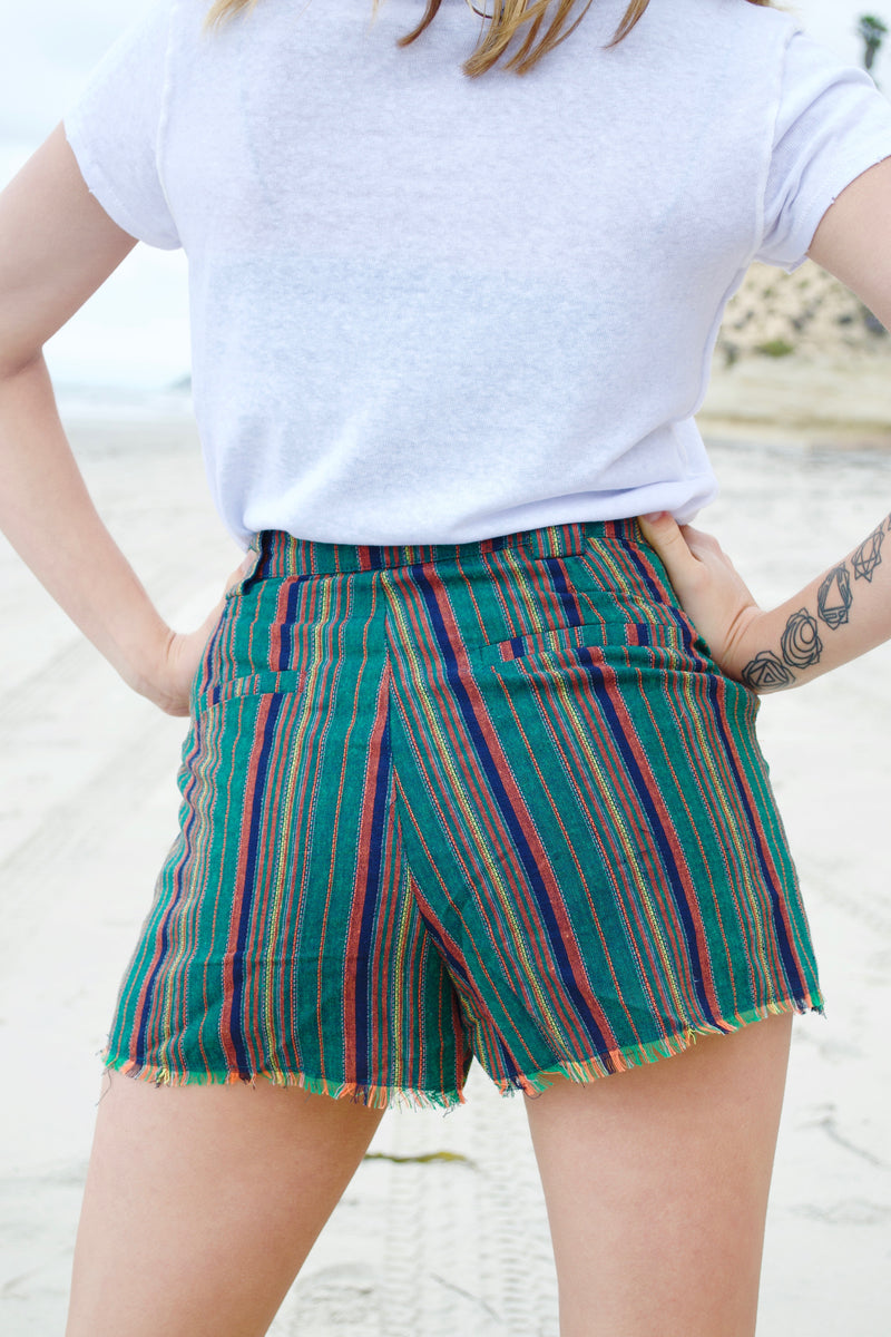 HB Green Striped Shorts