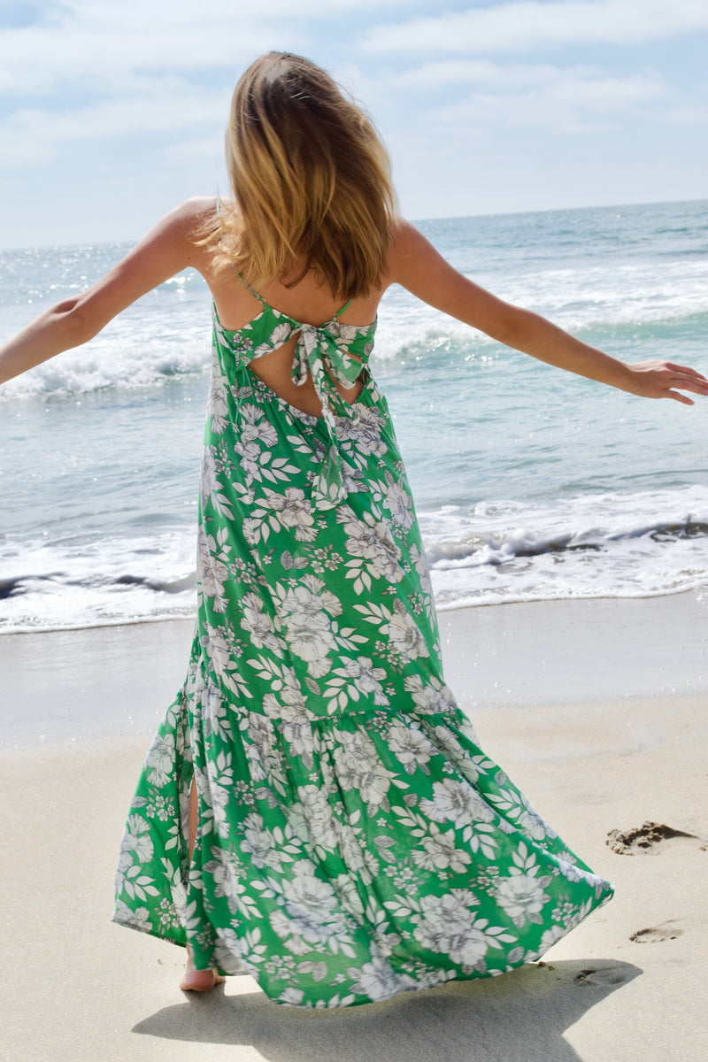 Aakaa Green Petunia Dress