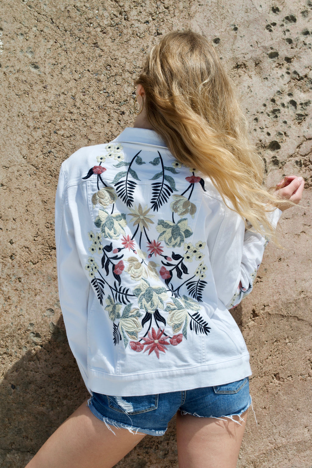 Driftwood White Denim Jacket