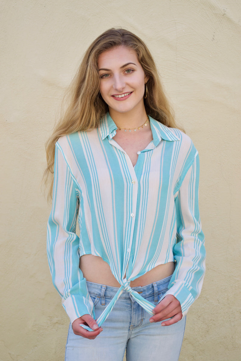 Oliv Beach Blue Blouse
