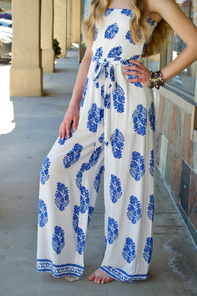 Aakaa Blue dot Jumpsuit