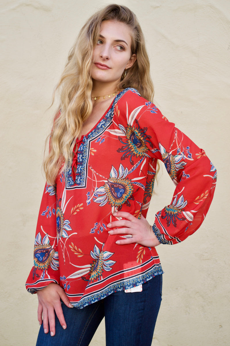 FT Red Samba Tunic