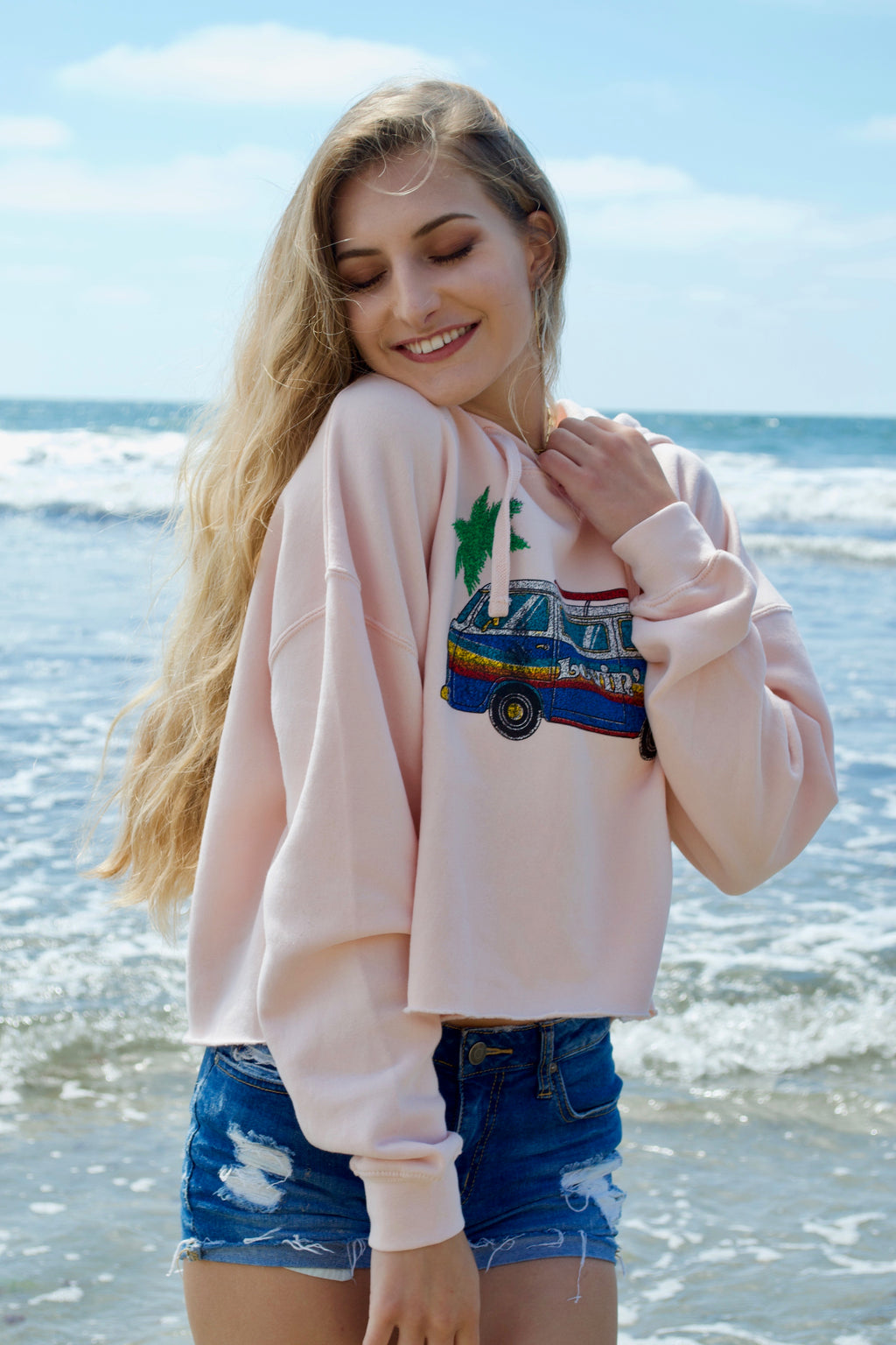 Life Baby Pink Lovin' Life Sweater