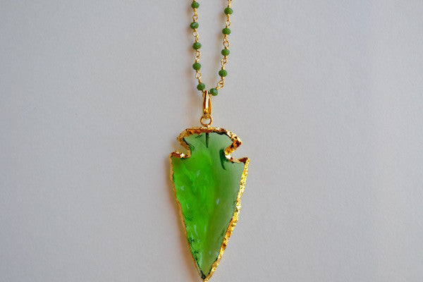 Green Quartz Arrowhead