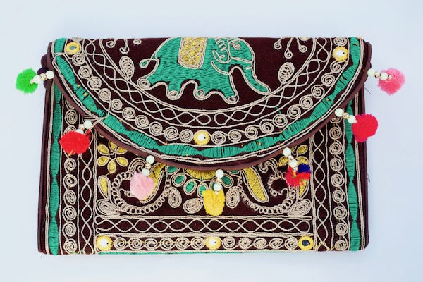 Elephant Tiki Clutch
