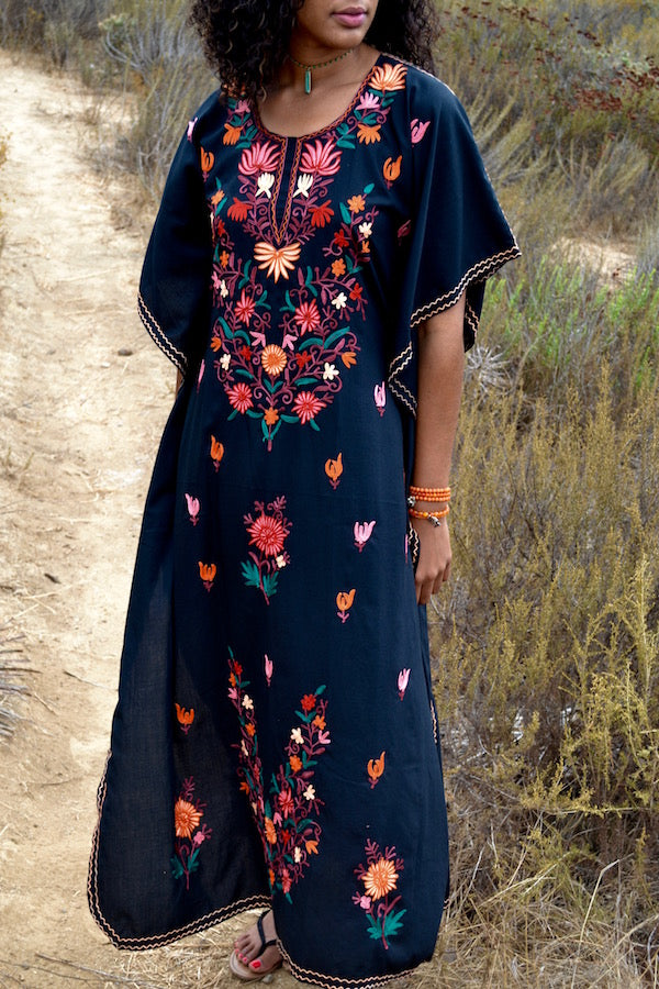Embroidered Bee Kaftan