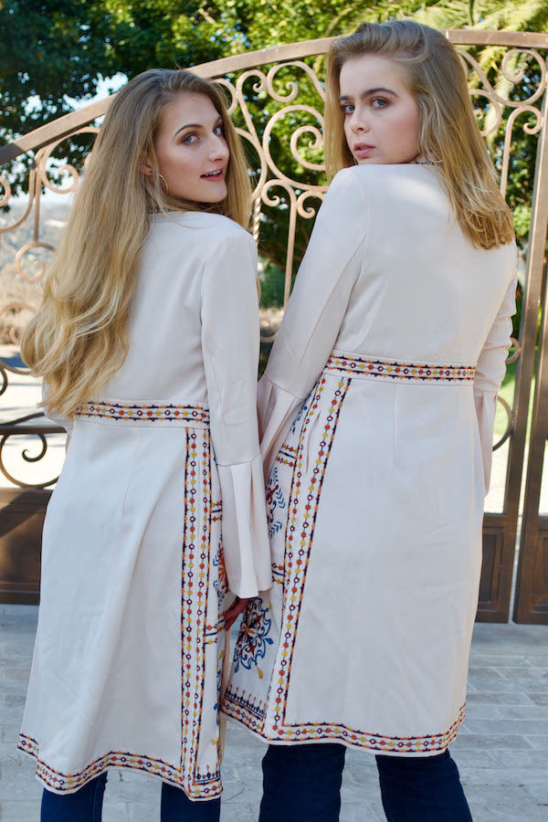 Embroidered Tula Trench