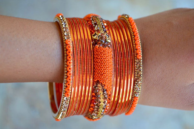 Orange Star Crush Bangles