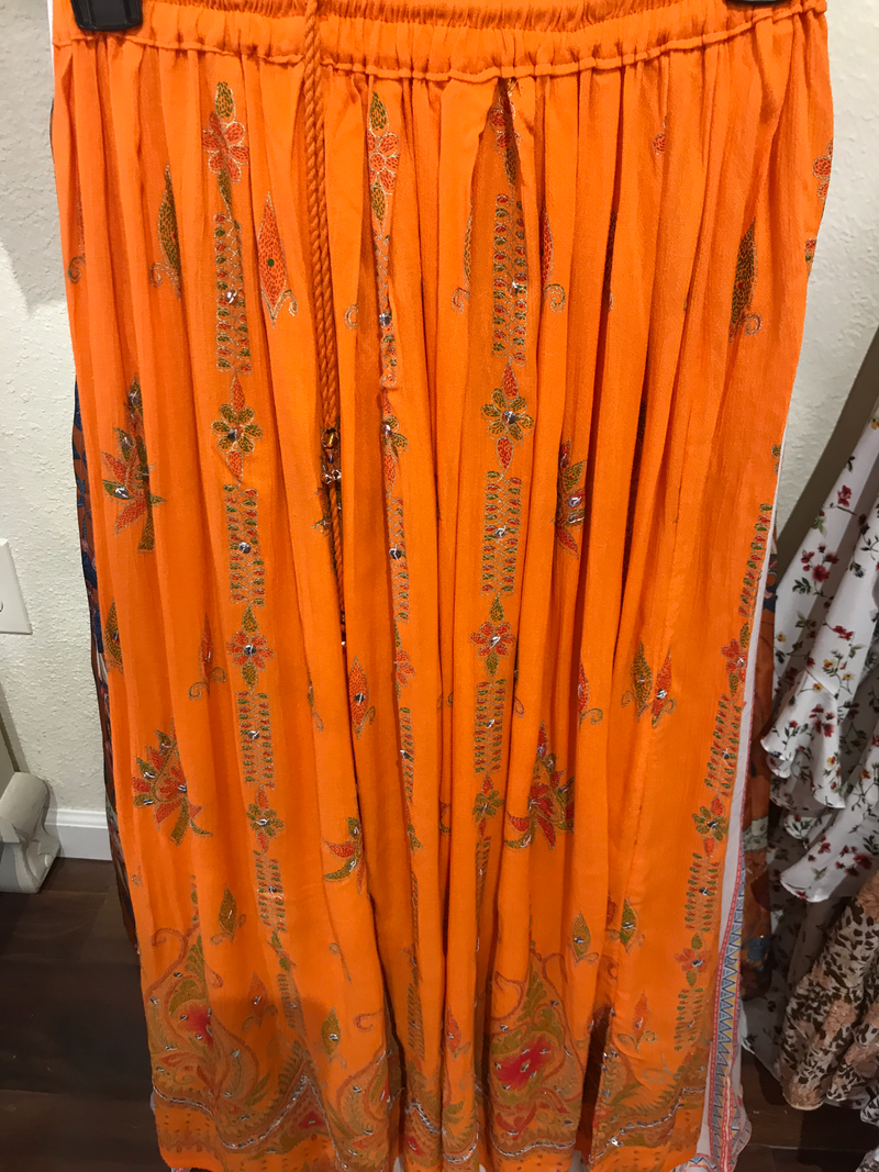 Indian orange skirt
