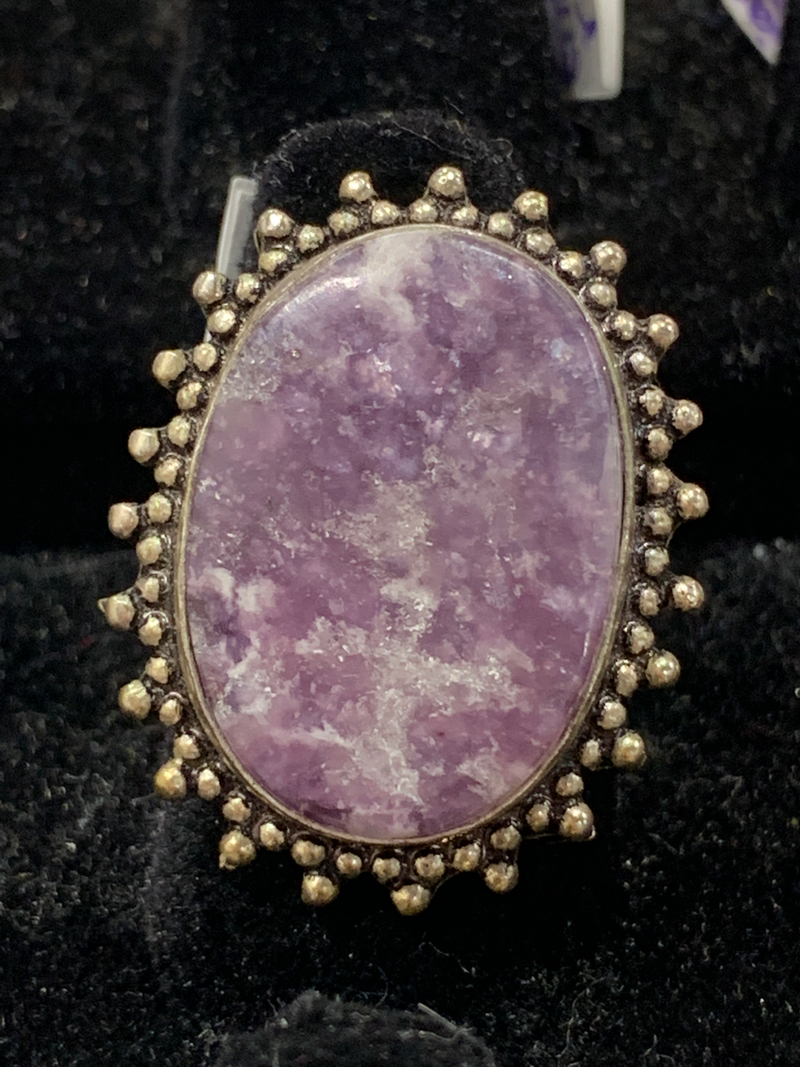Purple auralite ring