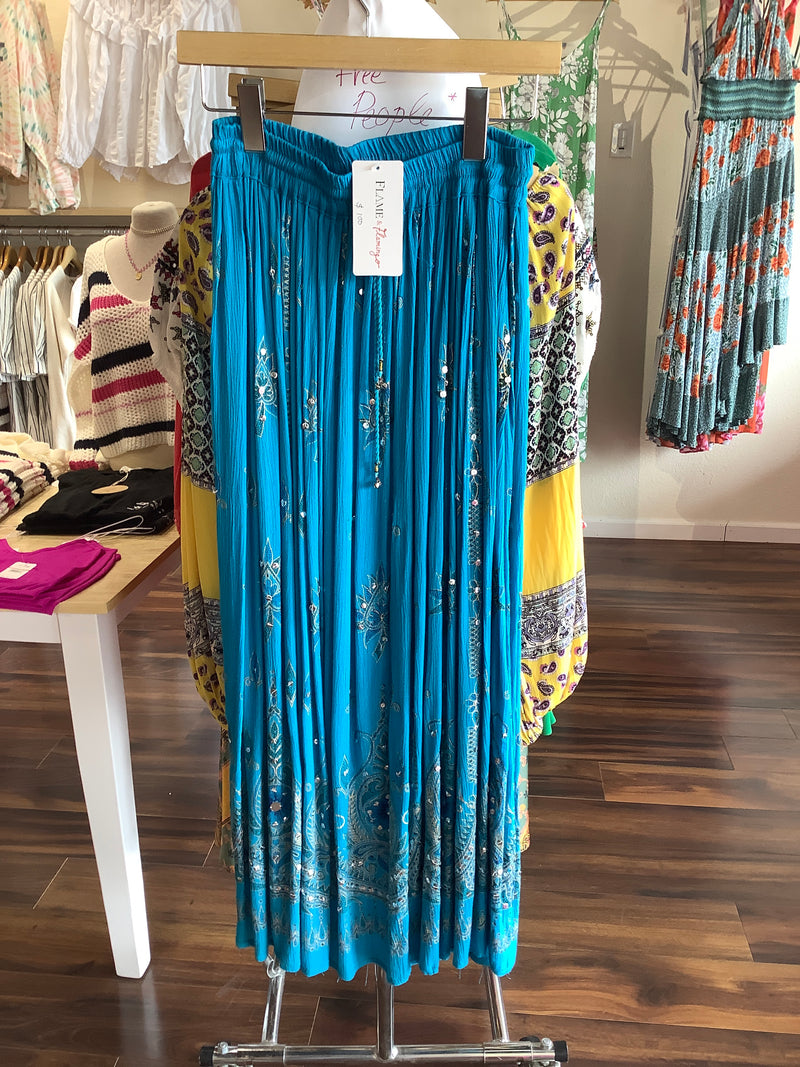 F&F Blue Indian Skirt