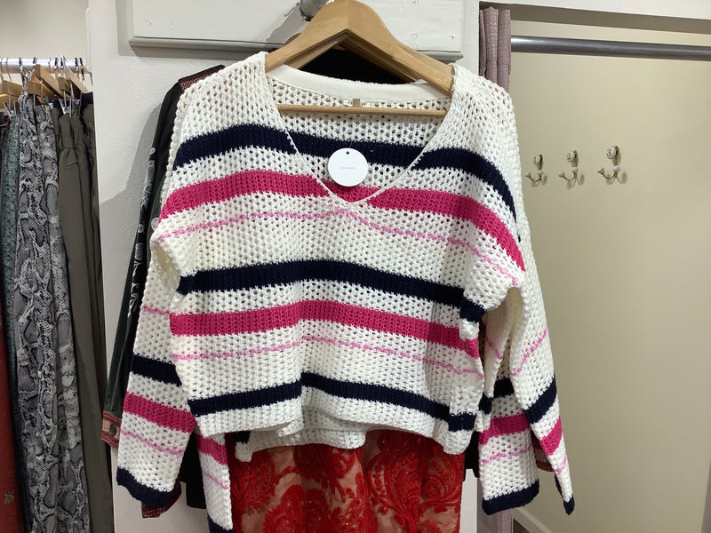 EC white stripe sweater