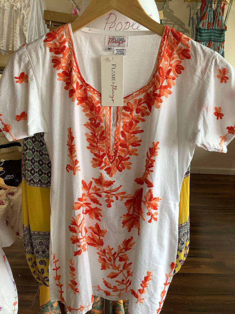 F&F Orange Indian Tunic